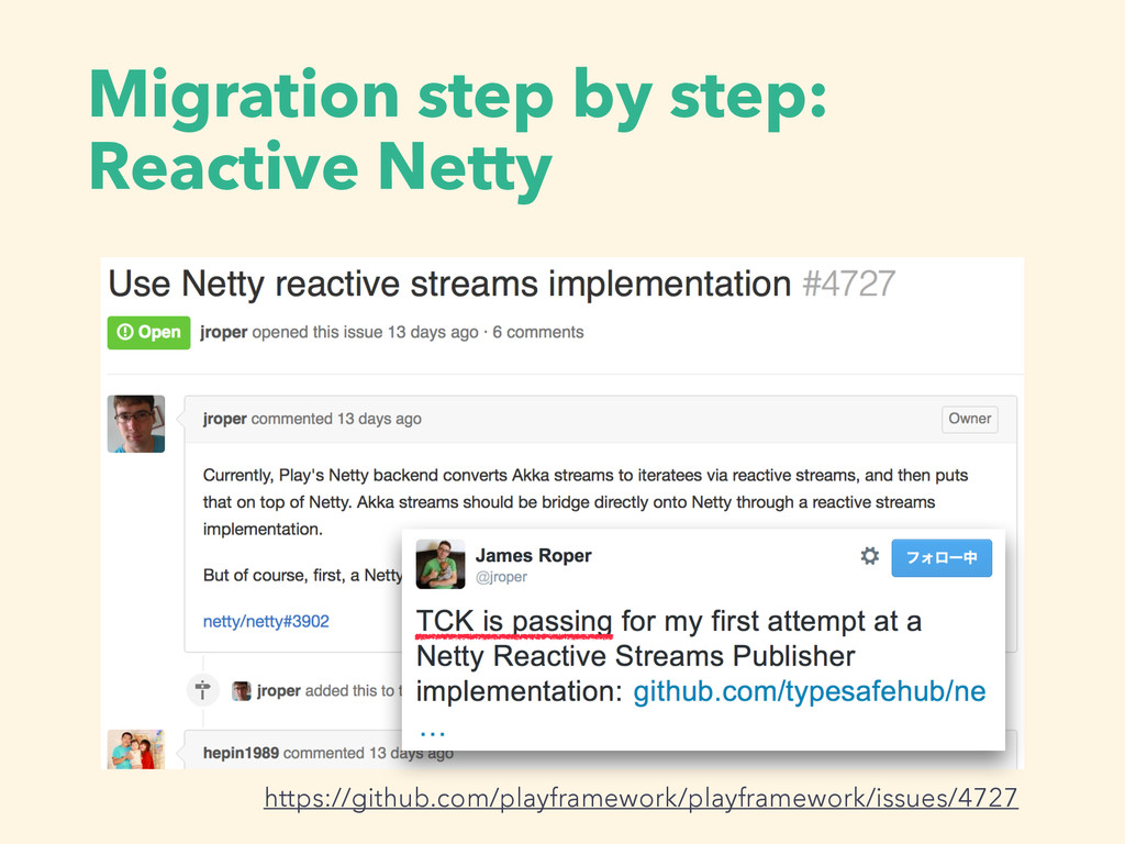 Migration step by step: Reactive Netty https://...