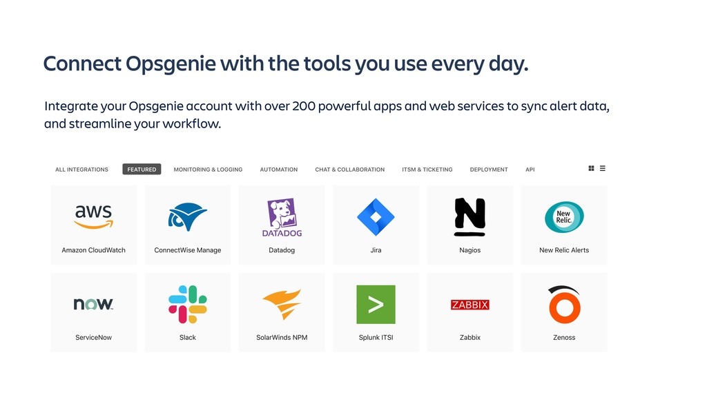 Connect Opsgenie with the tools you use every d...