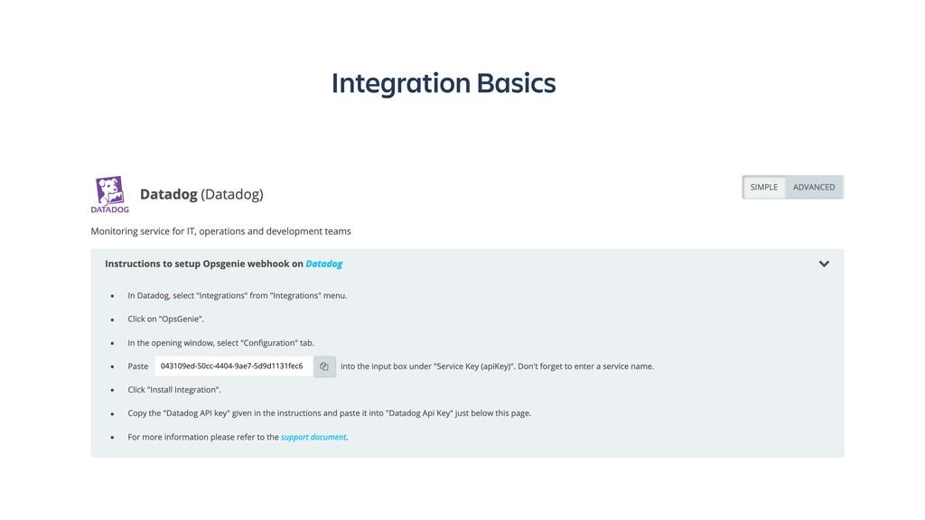 Integration Basics