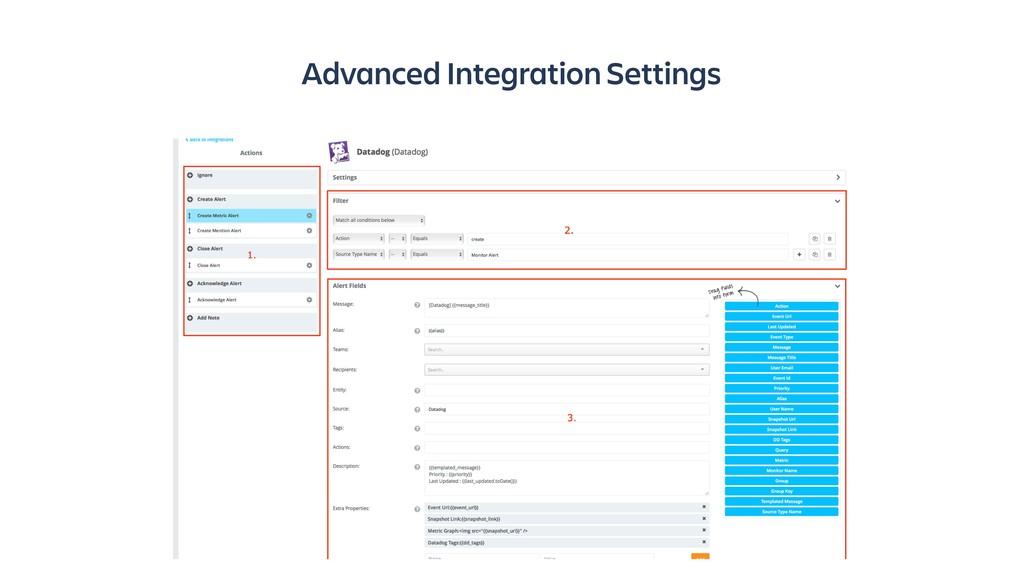 Advanced Integration Settings