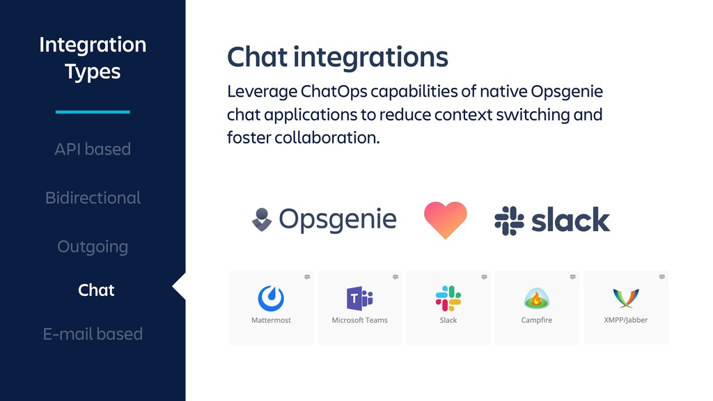 Chat integrations Leverage ChatOps capabilities...