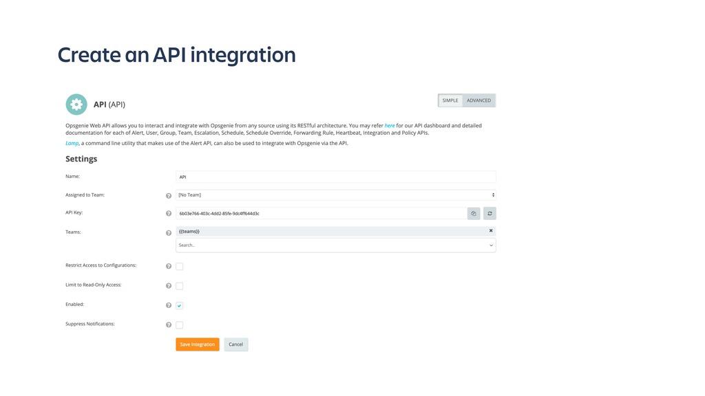Create an API integration