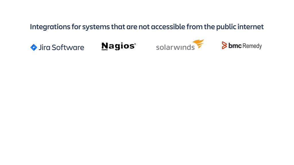 Integrations for systems that are not accessibl...
