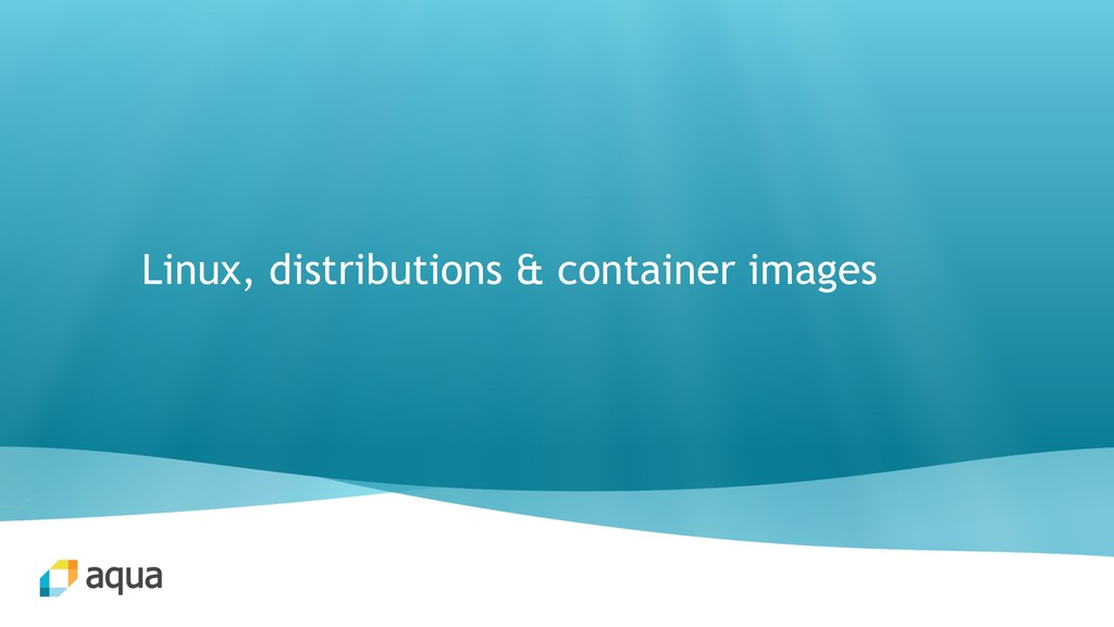 Linux, distributions & container images