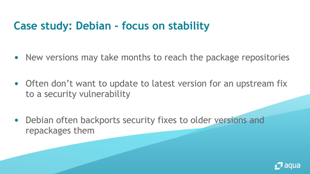 Case study: Debian - focus on stability ● New v...