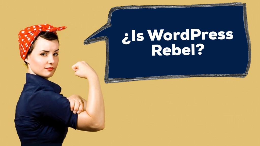 ¿Is WordPress Rebel?