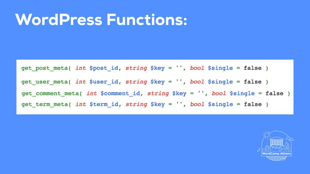 WordPress Functions: