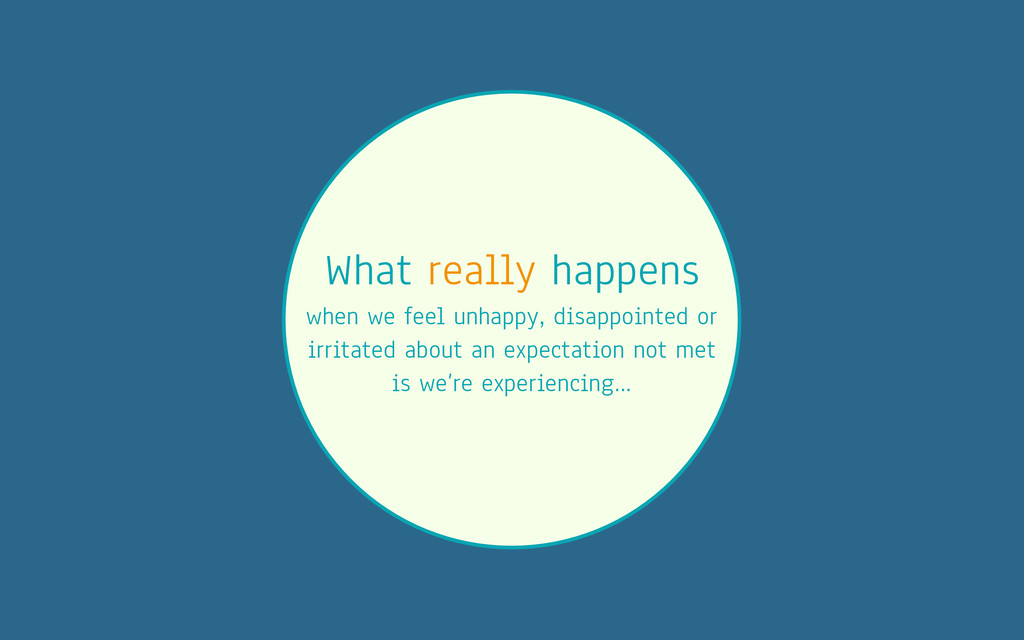 What really happens when we feel unhappy, disap...
