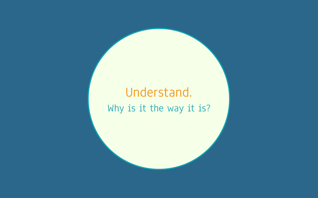 Understand. Why is it the way it is?