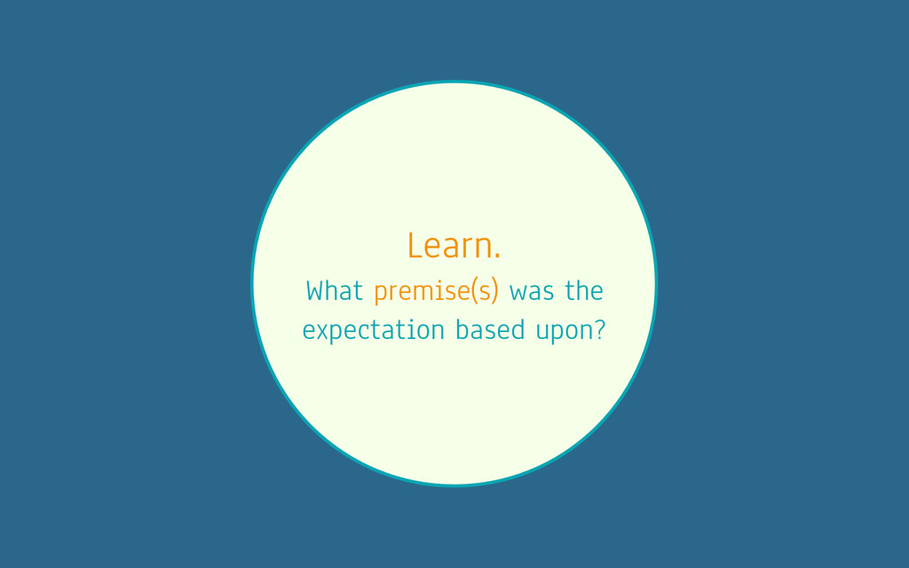 Learn. What premise(s) was the expectation base...