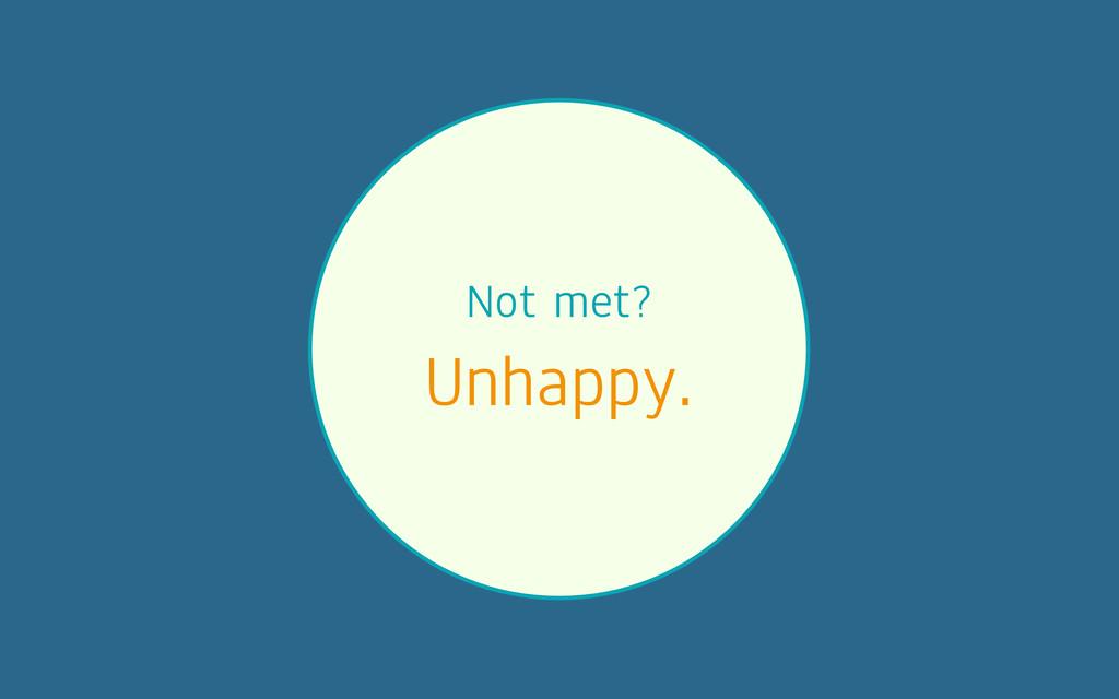 Not met? Unhappy.