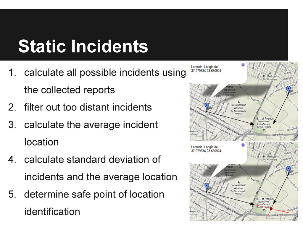 Static Incidents 1. calculate all possible inci...