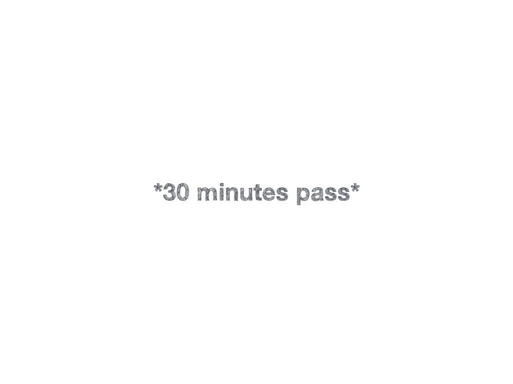 *30 minutes pass*