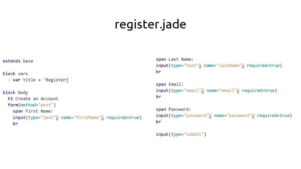 register.jade extends base block vars - var tit...