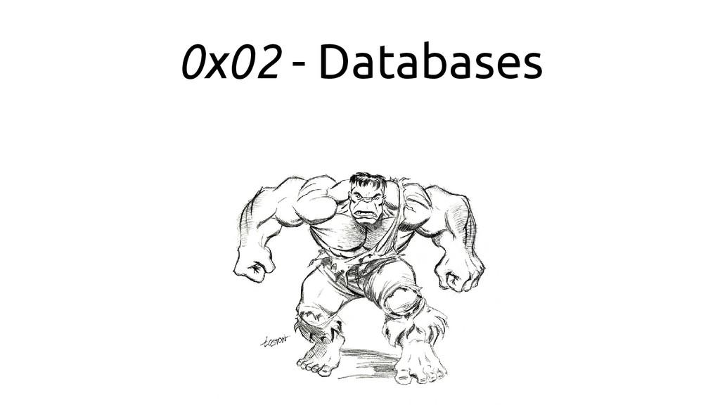 0x02 - Databases