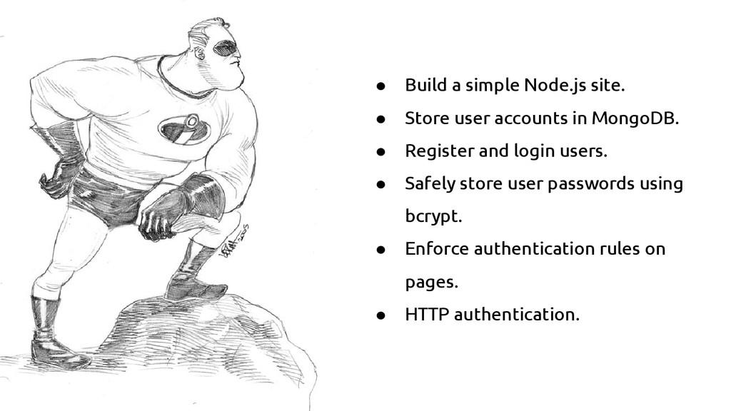 ● Build a simple Node.js site. ● Store user acc...