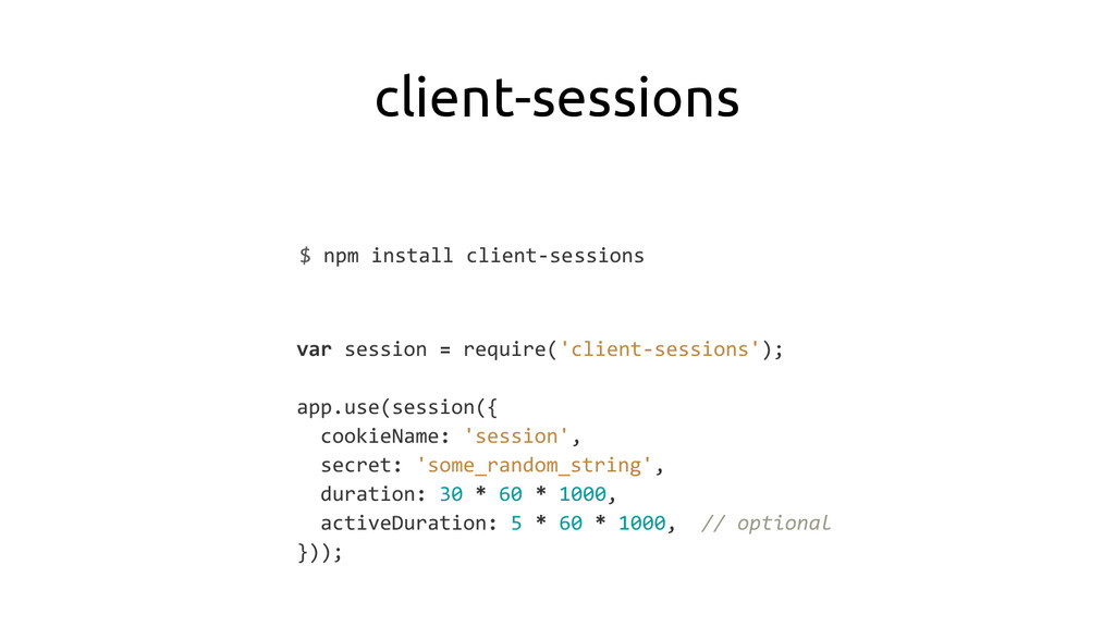 client-sessions $ npm install client-sessions v...