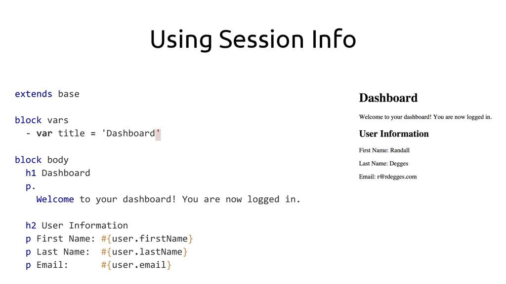 Using Session Info extends base block vars - va...
