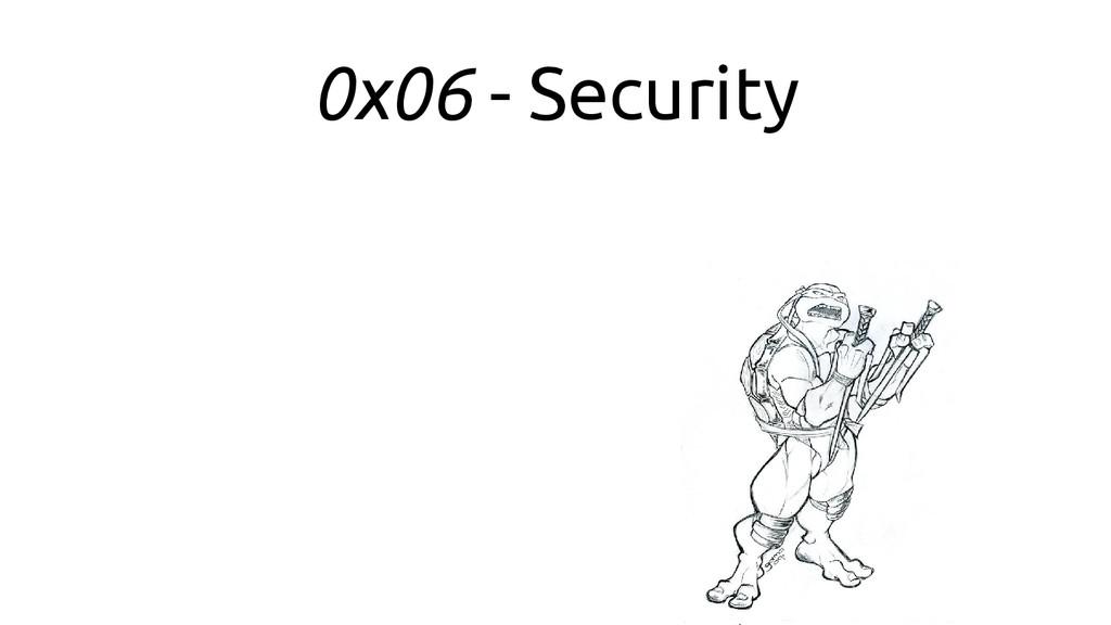 0x06 - Security
