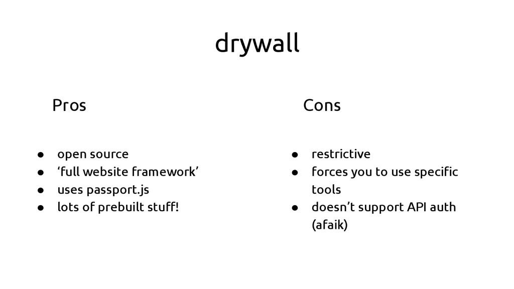 drywall ● open source ● 'full website framework...