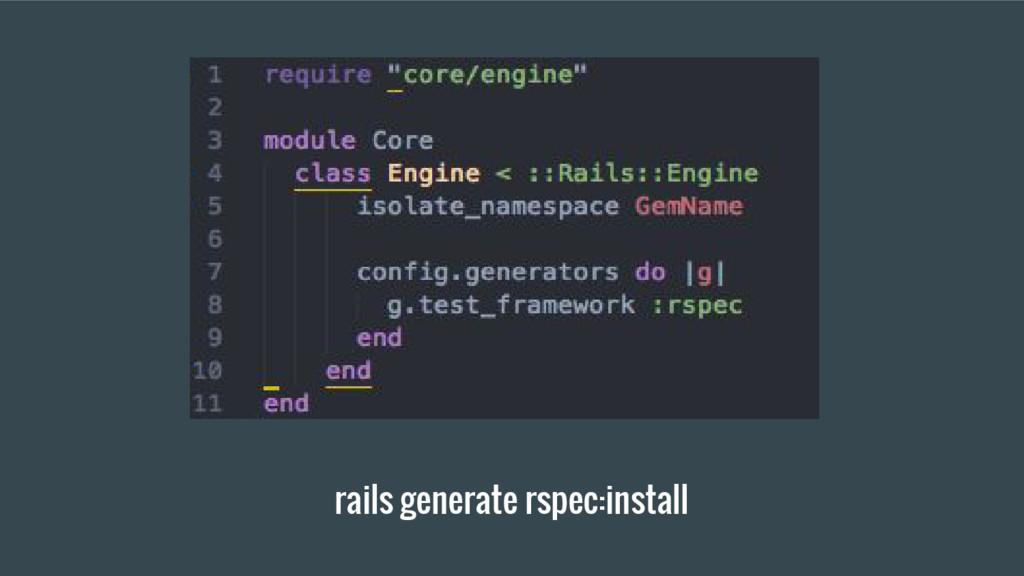 rails generate rspec:install