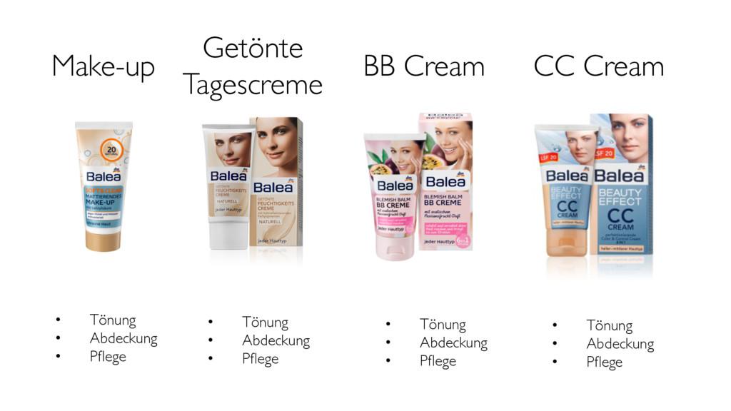 Make-up Getönte Tagescreme BB Cream CC Cream •...