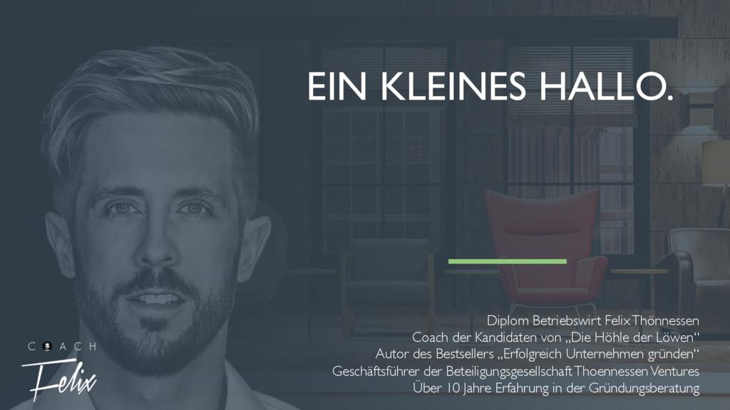 Diplom Betriebswirt Felix Thönnessen Coach der ...