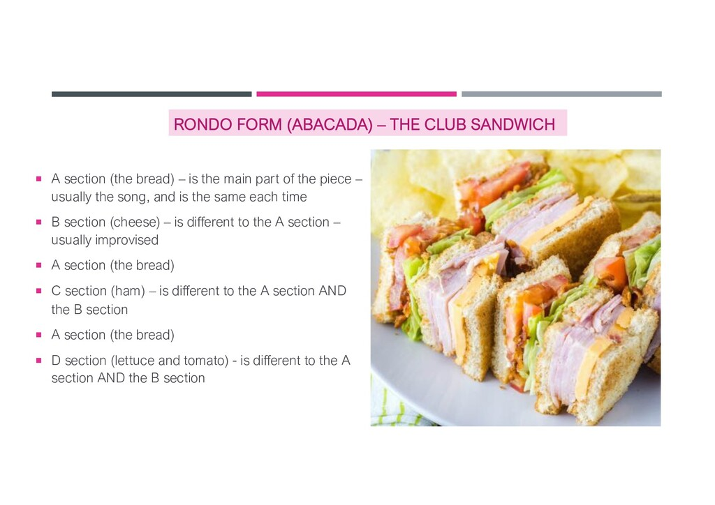 RONDO FORM (ABACADA) – THE CLUB SANDWICH ¡ A se...