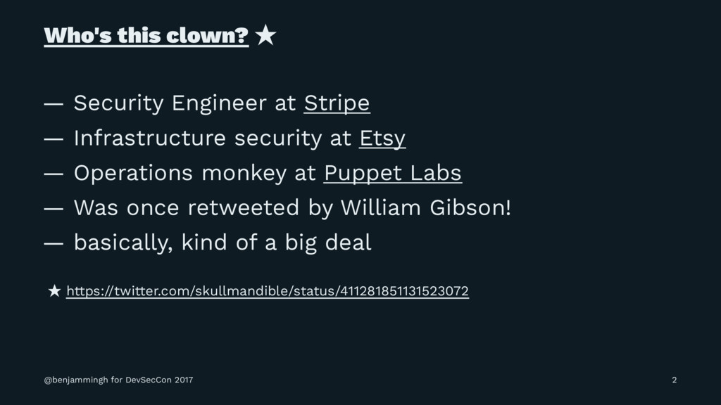 Who's this clown? ̣ — Security Engineer at Stri...