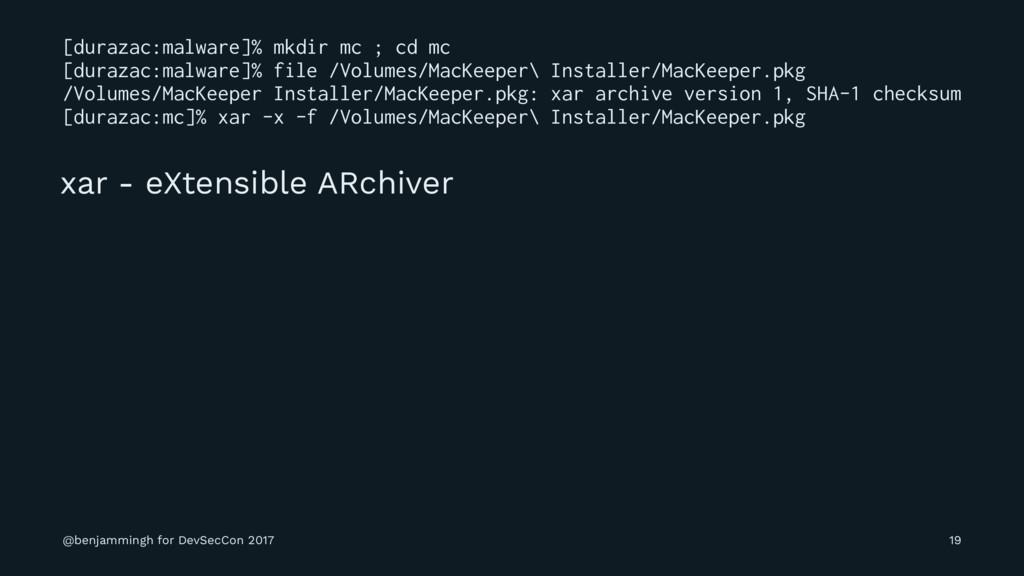 [durazac:malware]% mkdir mc ; cd mc [durazac:ma...