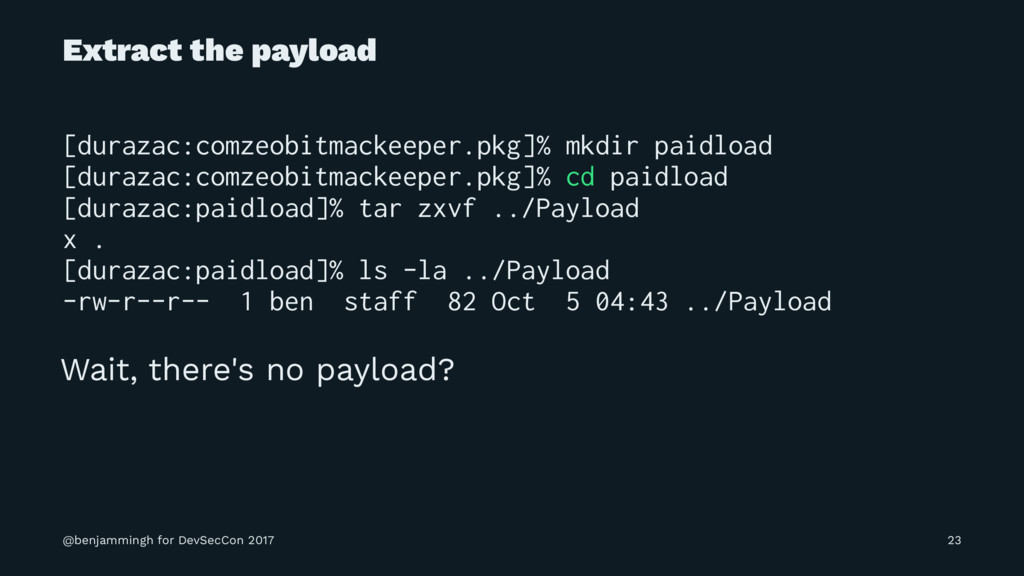 Extract the payload [durazac:comzeobitmackeeper...