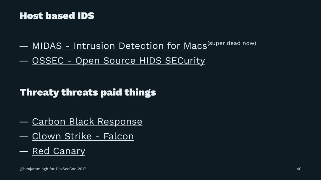 Host based IDS — MIDAS - Intrusion Detection fo...
