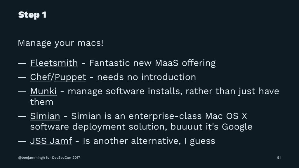 Step 1 Manage your macs! — Fleetsmith - Fantast...