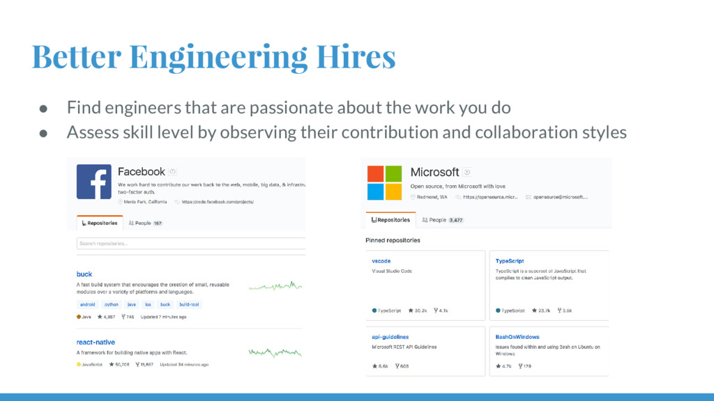 ● Find engineers that are passionate about the ...