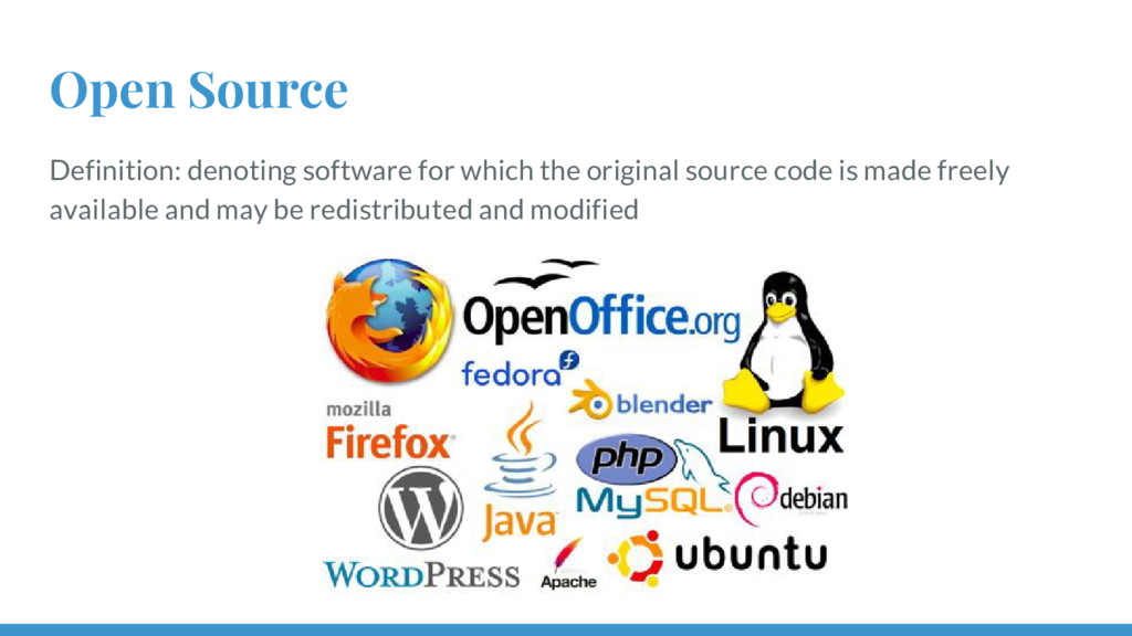 Open Source Definition: denoting software for w...