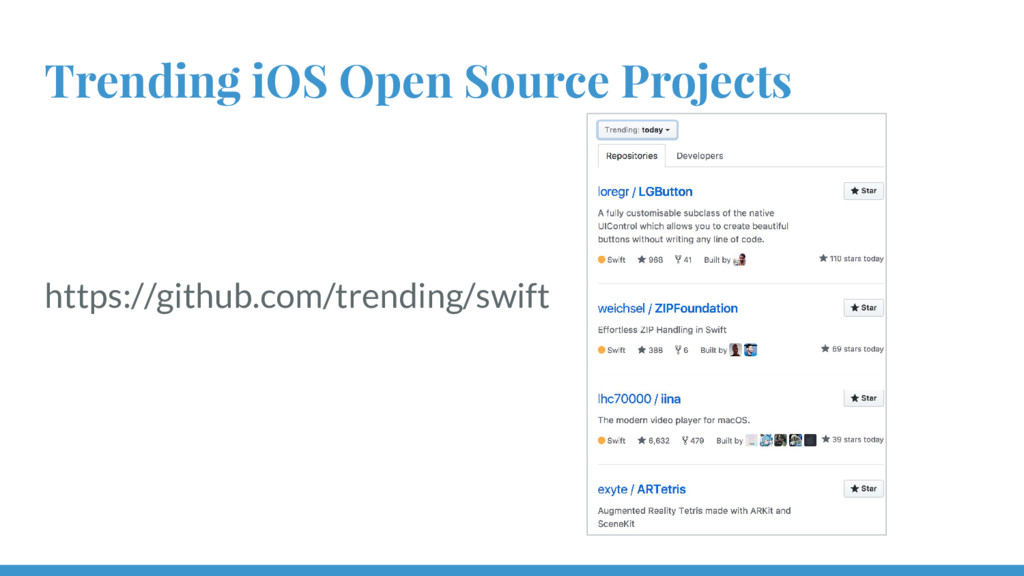 Trending iOS Open Source Projects https://githu...