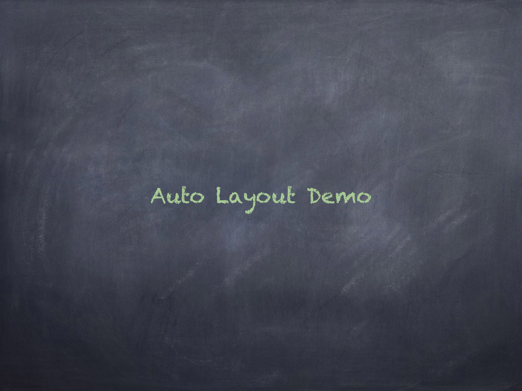 Auto Layout Demo