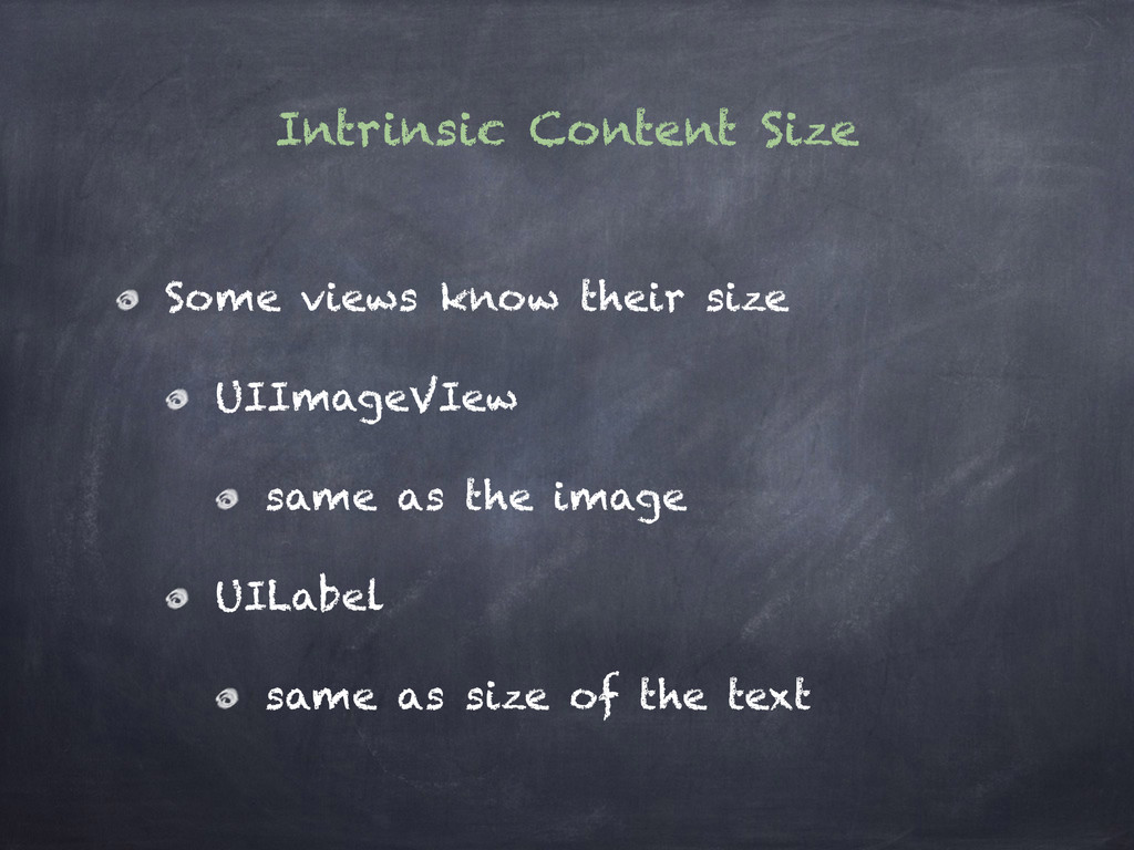 Intrinsic Content Size Some views know their si...