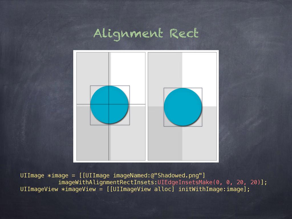 Alignment Rect UIImage *image = [[UIImage image...