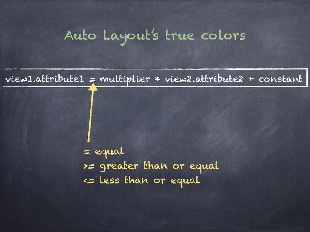 view1.attribute1 = multiplier * view2.attribute...