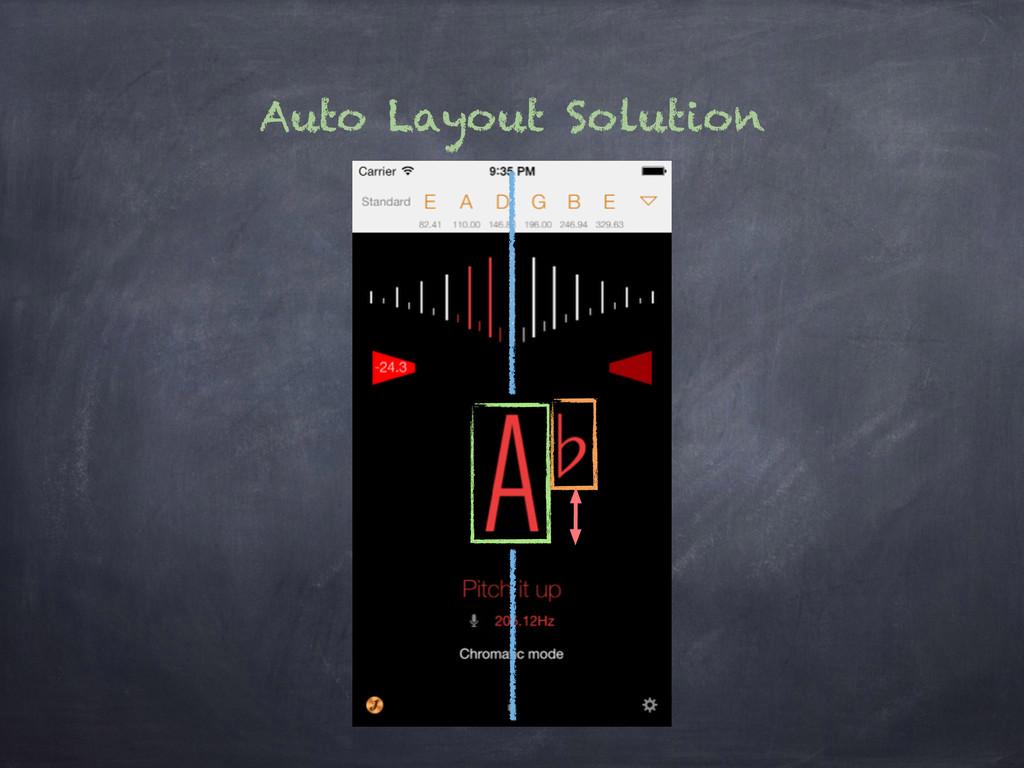 Auto Layout Solution