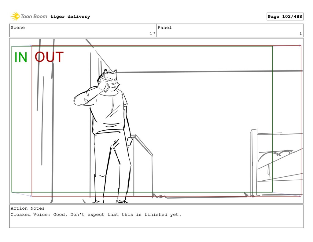 Scene 17 Panel 1 Action Notes Cloaked Voice: Go...