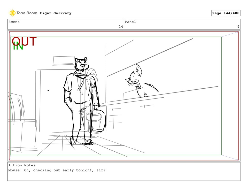 Scene 24 Panel 4 Action Notes Mouse: Oh, checki...