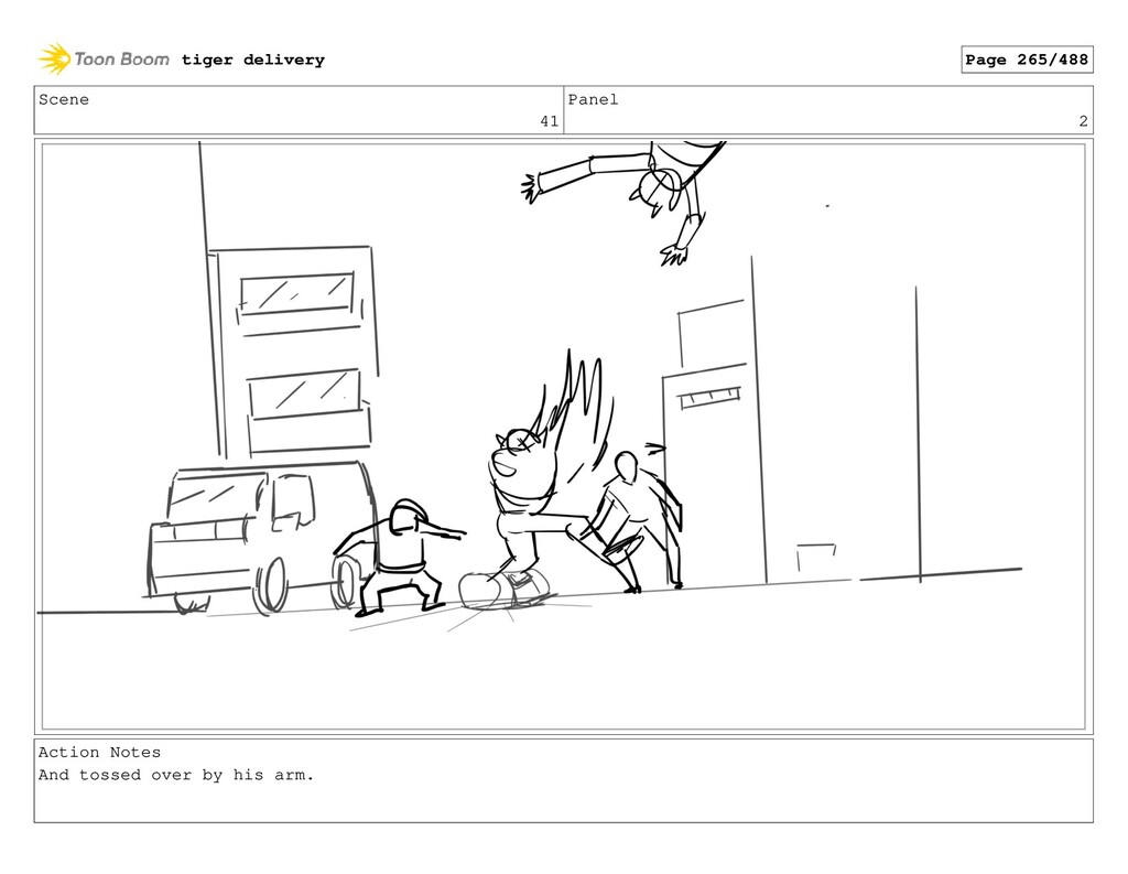 Scene 41 Panel 2 Action Notes And tossed over b...