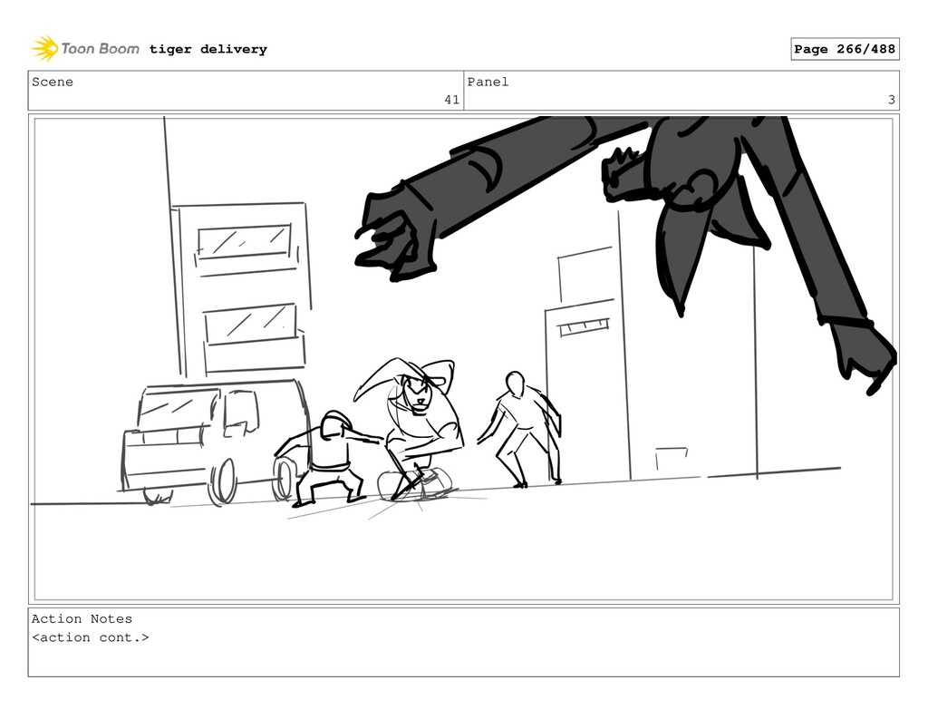 Scene 41 Panel 3 Action Notes <action cont.> ti...
