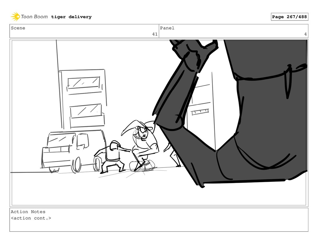 Scene 41 Panel 4 Action Notes <action cont.> ti...
