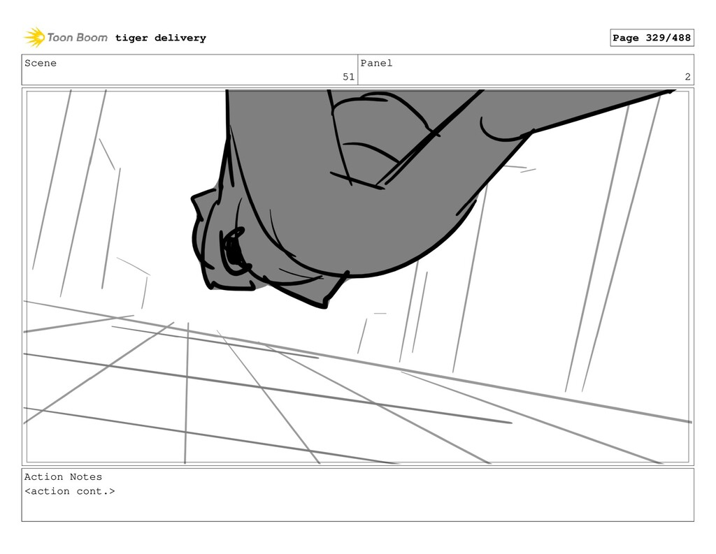 Scene 51 Panel 2 Action Notes <action cont.> ti...