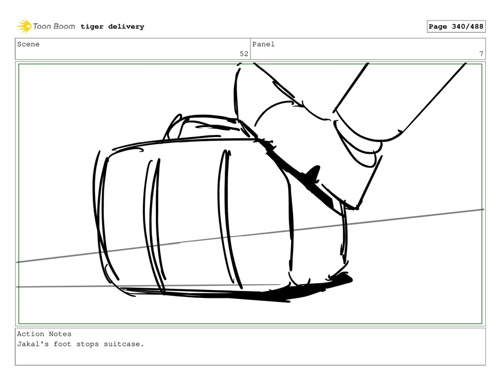 Scene 52 Panel 7 Action Notes Jakal's foot stop...