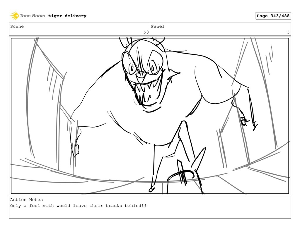 Scene 53 Panel 3 Action Notes Only a fool with ...