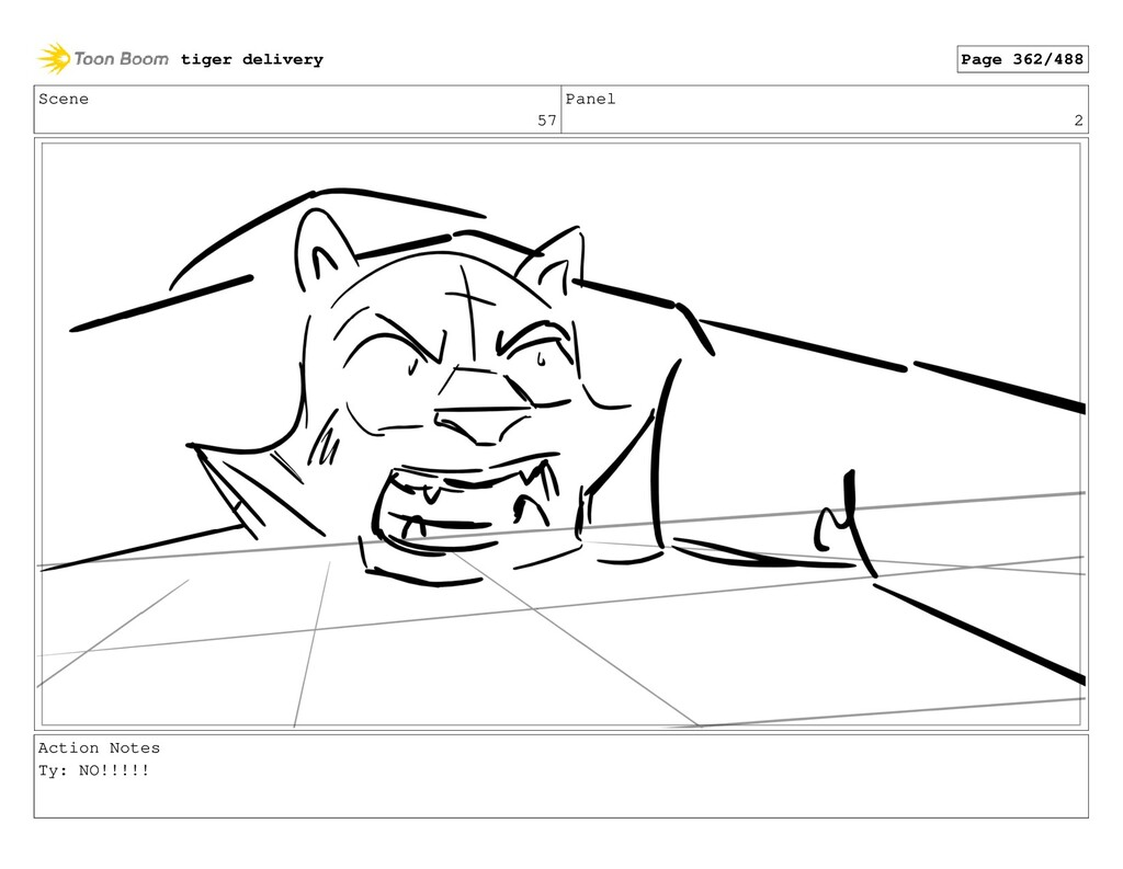 Scene 57 Panel 2 Action Notes Ty: NO!!!!! tiger...